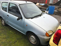 2001 (51) FIAT SEICENTO 0.9 - SCRAP - THE PRICE IS £90 - NO OFFERS