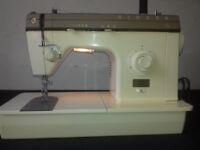Domestic Singer 7101 Sewing Machine VGC Fully Working inc manual pedal & cover