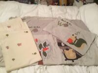 Next Toddler Duvet set and matching curtains (size 117cm x 183cm)