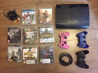 PS3 w/ 3 controllers & 8 games