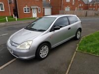 AUTOMATIC HONDA CIVIC 1.6 PETROL 3 DRS HATCHBACK NO OFFERS NO SWAP CASH 02475119398 NO SILLY CALLER