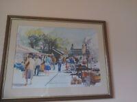 Framed print of street market