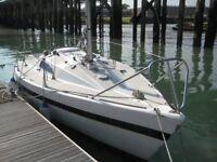 Charisma 22 foot sailing boat