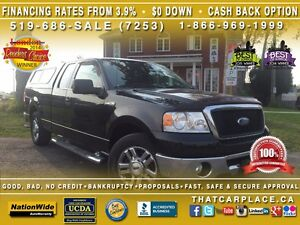 2006 Ford F-150 XLT-$113/Wk-XTR Pckg-Tow-Topper-Keyless-Loaded London Ontario image 1
