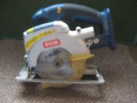 Ryobi CCS 1801 Cordless Circular Saw Laser Class 2 with Blade - Body Only