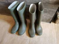 2 pairs size 2 wellies