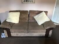 Large two seater sofa bed plus small two seater sofa