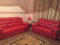 Beautiful red unused 5 seated sofa set!