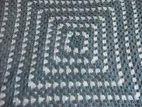 Crocheted cute baby blanket