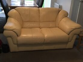 Cream leather sofa for sale