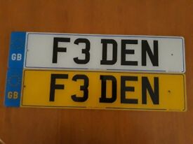 Stand out from the Crowd exclusive number plate F3 DEN