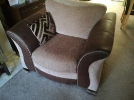3 seater settee and chair for sale