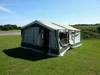 8 berth Conway corniche trailer tent folding camper