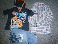 Boys Thomas Tank Bundle.Shorts,Hoody and Pyjamas 2-3years