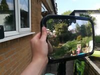 Headrest mirror for rear facing car seat adjustable