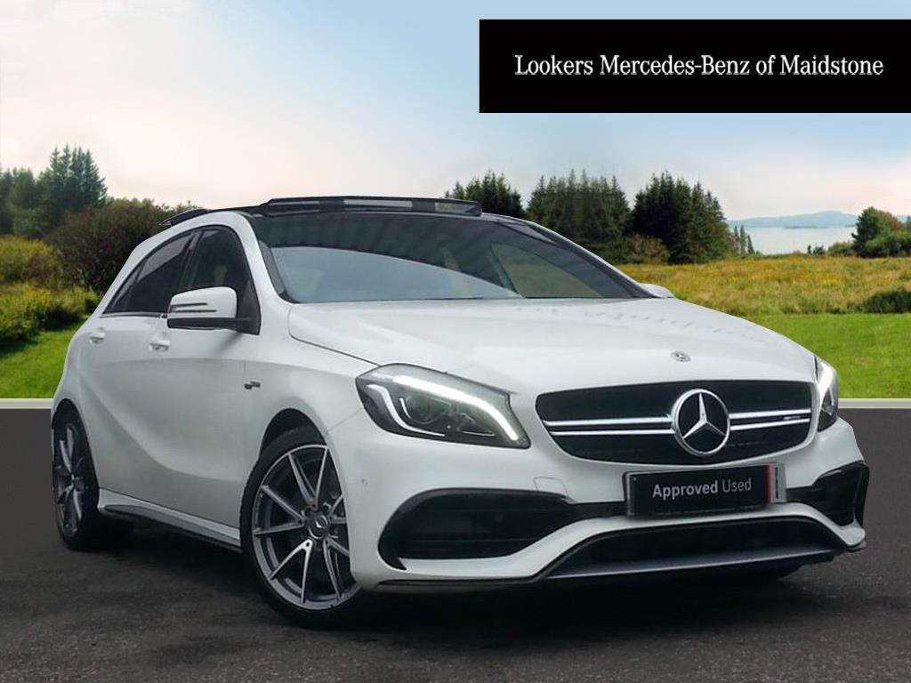 mercedes benz a class amg a 45 4matic white 2017 12 29 in maidstone kent gumtree. Black Bedroom Furniture Sets. Home Design Ideas