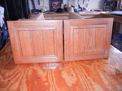 """Solid Oak Cabinet Doors  14 1/2"""" X 12 3/4"""""""