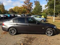 BMW 320D GREY SALOON DIESEL TINT WINDOWS 18 INCH BMW ALLOYS with 1 YEAR M.O.T and Private plate