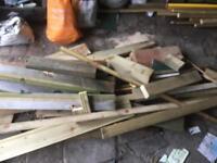 Free wood for burning.