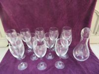 SUPER LARGE WINE GLASSES & WINE CARAFE/DECANTER