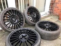 18 inch Alloys With Tyres 4x100 Ford Peugeot Vauxhall Mini Etc