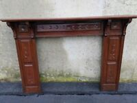 Mahogany Fireplace, Mantle and Surround (18'')