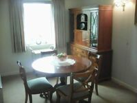 Teak Dining Room Side/Display Cabinet with matching Table and 4 Chairs