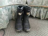 Mens motorcycle Boots Size 10