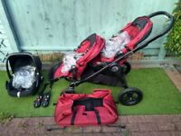 Baby Jogger City Select Bundle - Travel System / Pushchair, Maxi-Cosi Pebble Car Seat & Extras