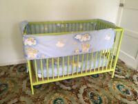 Ikea cot and mattress green