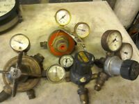 Gas and oxygen gauges