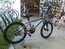 BOYS/GIRLS KOBE PAIN BMX BIKE 20 INCH WHEELS GREY/BLACK GOOD CONDITION