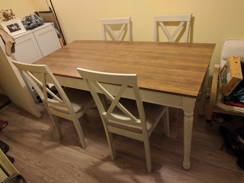 Ellingham Dining Table And Four Chairs