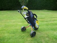 Dunlop Loco right handed junior golf set with stand-bag and trolley