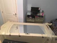 Beautiful characterful single door mirrored armoire wardrobe