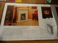 GAS FIRE BY NU-FLAME, 4.2 kw OUTPUT. BRAND NEW STILL IN BOX