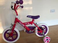 New Halfords Sweetie Childs 12 Inch Bike/bicycle Brand New