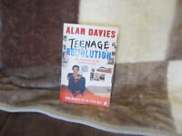 "****SIGNED ALAN DAVIES BOOK ""TEENAGE REVOLUTION"" FOR SALE****"