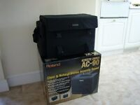 Roland Acoustic Chorus AC90 Stereo Guitar Amp and Case in Excellent Condition