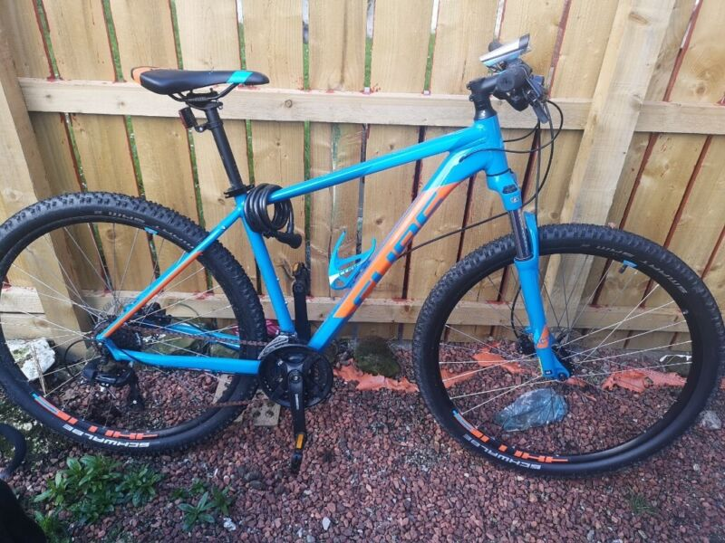 Cube orange and blue Mountain Bike for sale  Redcar, North Yorkshire