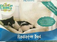 Radiator bed for cats