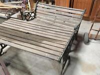 Garden table an bench