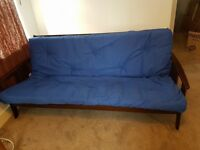 DOUBLE SOFA BED BLUE EXCELLENT CONDITION