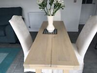 Space saving Console Dining Table and chairs