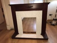 Used solid wooden antuiqe fireplace