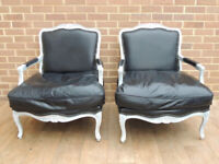 Pair of Large French Armchairs (UK Delivery)