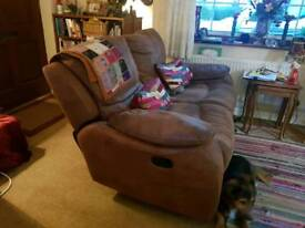 2 piece brown suite reclining