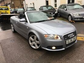 AUDI A4 2.0 TURBO AUTOMATIC 2006 CONVERTIBLE S LINE LOW MILEAGE FULL AUDI SERVICE HISTORY CLEAN