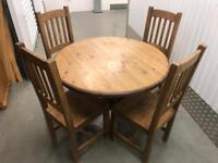 Farmhouse pine table and chairs with FREE DELIVERY