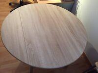 BRAND NEW DROP LEAF KITCHEN TABLE 1200mm Diameter